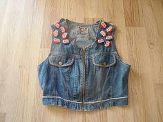 retro vest... Vest, Denim, Retro, Jackets, Fashion, Down Jackets, Moda, Fashion Styles, Retro Illustration