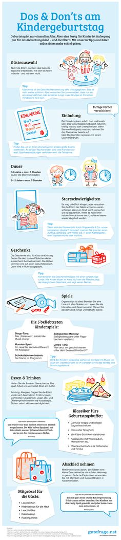 """Dos & Don'ts am Kindergeburtstag"" Die besten Tipps … ""Goodbye"" infographic. ""Dos & Don'ts on Children's Birthday"" The best tips and tricks for the perfect planning for the successful party are here 4 Kids, Diy For Kids, Cool Kids, Baby Kids, Children, Business Invitation, Kids Corner, Baby Birthday, Kids And Parenting"