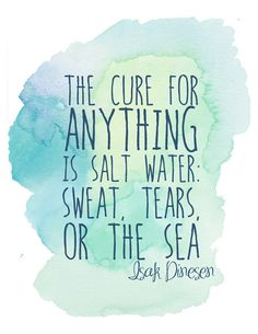 The Cure For Anything is Saltwater  Printable by BungalowDesignCo