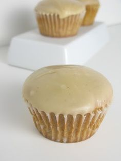 """brown sugar pound cake cupcakes with brown butter icing from """"isn't everything in the kitchen trial & error?"""""""