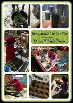Using simple outdoor play to help keep unwell kids busy! - Mummy Musings and Mayhem