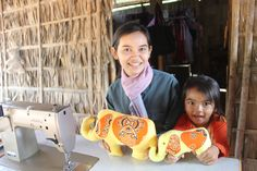 """My name is Sangorb. My village doesn't have many tailors, so I get a lot of business.In addition to that, I make products for HHA so I am able to support my family.My husband and I are so happy about our future."""""""