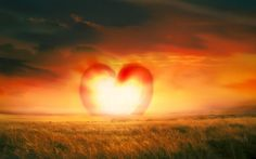 """I don't know how they did it, but this """"Heart-shaped sunset wallpaper"""" is pretty. -- [NOTE: click through has a TON of ads, not all suitable for work or children.]"""