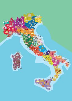 Map of Italy by Massimiliano Emili