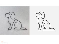 Line Dogs designed by George Bokhua. Connect with them on Dribbble; the global community for designers and creative professionals. Simple Line Drawings, Easy Drawings, Dog Line Drawing, Dog Logo Design, Graphic Design, Dog Icon, Line Illustration, Wire Art, Simple Lines