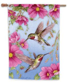 Hummingbirds w/Pink House Flag by Toland Home Garden. $17.30. Decorative Art Flag. All Toland Flags are machine washable. Toland Flags are UV, Mildew, and Fade Resistant. Toland Flags are made from durable 600 denier polyester. Heat sublimated process permanently dyes flag fabric for long-lasting color. Hummingbirds w/Pink Standard Flag 28 by 40. Save 33% Off!