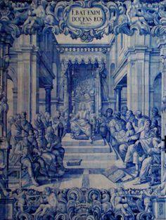 www.retabloceramico.com  Enseñar al que no sabe,  en la iglesia de la Misericordia de Viana do Castelo