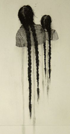 "red-lipstick: "" Aline Eras (Dutch) - Melancholy 3, Edition 3, 2012 Line Etching, Drypoint, Pencil on Paper """