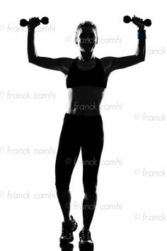 woman workout fitness posture body building weight training exercise exercising on studio isolated white background     Rewarding!! # weight loss http://beckysblog.net/is-this-the-path-you-dream-of/b