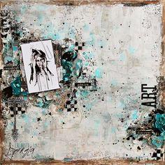 Created by Georgia Heald. Products: Prima Marketing Art Basics Texture Paste - White Crackle, 13 Arts Mists, Art Anthology Mists.