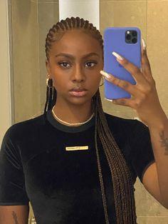 Big Box Braids Hairstyles, Braids Hairstyles Pictures, Black Girl Braided Hairstyles, Black Girl Braids, African Braids Hairstyles, Baddie Hairstyles, Protective Hairstyles, Hair Pictures, Girl Hairstyles