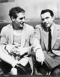 Frank photographed with Paul Newman.