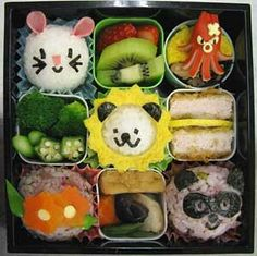 We love seeing all the inventive ways people pack their lunches. Check out this bento box! Cute Bento Boxes, Bento Box Lunch, Bento Food, Box Lunches, Lunch Boxes, Cute Food, Good Food, Japanese Food Art, Kawaii Bento