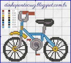 Dinha Ponto Cruz: Bike em ponto cruz