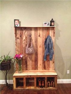 Coat & Shoe Bench Storage