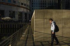 Alex Webb - London. 2010. Docklands after work.