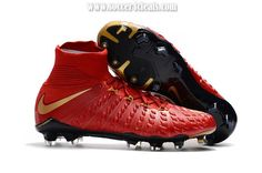 Nike Crampons Hypervenom Phantom III Dynamic Fit FG - Rouge Or Football Football Pas Cher Chaussures De Foot Site Officiel Adidas Soccer Boots, Nike Soccer, Basketball Shoes, Cool Football Boots, Best Soccer Cleats, Cleats Shoes, Under Armour Shoes, Nike Men, Awesome Shoes