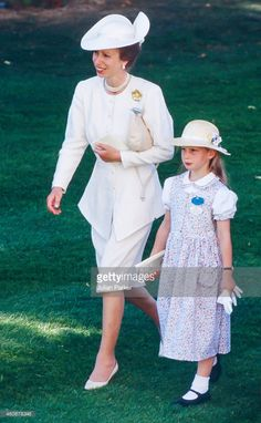 Zara Phillips and Princess Anne, June 20, 1989
