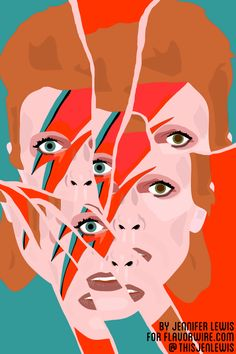 Exclusive: David Bowie-Themed Animations to Celebrate 40 Years of 'Aladdin Sane'