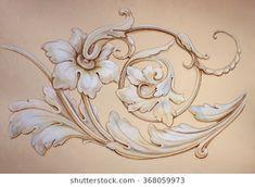 Tracery, decorative ornament. Acrylic Carving Designs, Stencil Designs, Carillons Diy, Tree Drawings Pencil, Art Nouveau, Ornament Drawing, Wall Painting Decor, Filigree Design, Graffiti