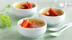 Créme Brûlée Cantaloupe, Creme, Serving Bowls, Panna Cotta, Sweet Tooth, Eggs, Snacks, Baking, Fruit