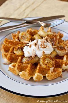 Caramelized Banana Waffles