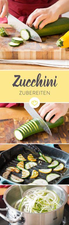 Zucchini sind wegen ihrer Vielseitigkeit in der Küche besonders beliebt. Hier gibt's geballtes Zucchiniwissen und Tipps zur richtigen Zubereitung.