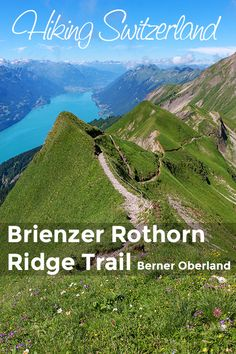 Epic ridge trail with sweeping views of the Berner Oberland. A difficult and slightly dangerous hike, best for older kids with hiking experience. Oh The Places You'll Go, Places To Travel, Travel Destinations, Places To Visit, Swiss Travel, Travel Through Europe, Wanderlust Travel, Where To Go, Adventure Time