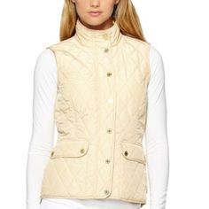 Lilly Pulitzer Getaway Quilted Vest XL NWOT Lilly Pulitzer Getaway Quilted Vest in Almond Color Size XL. Another item I have to grad from home, so shipping might be delayed a few days. Will ALWAYS keep buyer updated in status. Lilly Pulitzer Jackets & Coats Vests