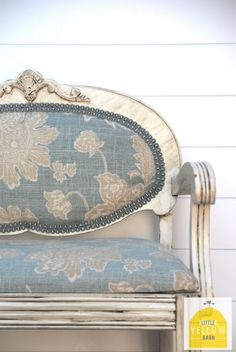 DIY reupholstered chair....love it..shabby chic