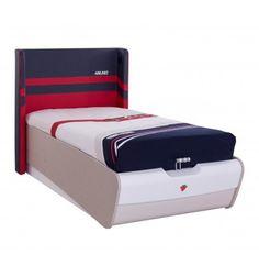 2c934649db3 Magnifique lit contemporain pour chambre enfant coloris blanc ! Sa  structure est fabriquée en bois MDF