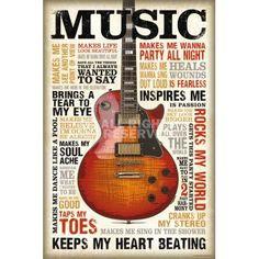 XENOS Poster: Music is Passion online te koop. Bestel je poster, je 3d filmposter of soortgelijk product Maxi Poster