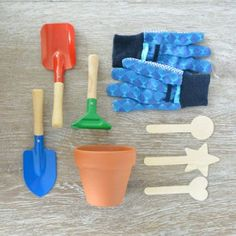 The Junior Gardening Kit comes with the tools kids need to start growing their own plants.