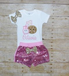 Milk and Cookies birthday outfit, Milk and Cookies birthday shirt, milk and cookies birthday invitation, birthday milk and cookies theme 1st Birthday Hats, 1st Birthday Party For Girls, Pig Birthday, Birthday Cookies, Birthday Shirts, Birthday Parties, Little Girl Names, Bodysuit Shirt, Cake Smash Outfit