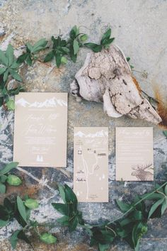 Green Mountain Wedding Stationery - Green Wedding Inspiration - Calgary Bride