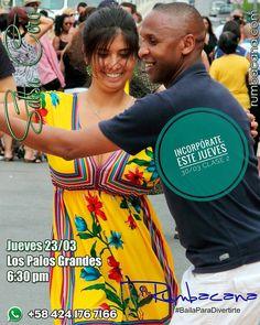 Hoy jueves 30/03 Clase 2 del Taller de #Salsa en Los Palos Grandes a las 6:30 pm Anímate e Incorpórate. Invita un amigo al #SanoVicioDeBailar  Ven y #BailaParaDivertirte - #regrann