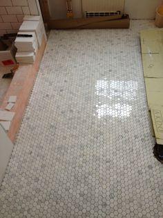 marble tile & subway tile