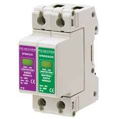 A1SPM/6/230N - 6kA Single Phase with Remote Indication (L-N, L-E) (w/o Remote Connector) - Type 2 Test Class II - This modular #surgeprotection #device provides #protection of equipment connected to incoming low voltage AC power supplies against the damaging effects of transient over voltages caused by local #lightning strikes, or the switching of electrical inductive or capacitive loads.