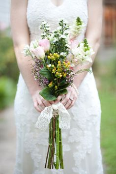 Bridal bouquet Lace Wedding, Wedding Dresses, Shabby Chic, Bouquet, Bridal, Vintage, Fashion, Bride Dresses, Moda