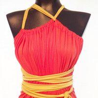 Tangerine Maxi Sack dress