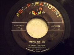 Maxine Brown - Think Of Me - Smooth Early 60's R&B Ballad