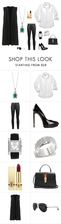 """""""Без названия #2633"""" by newyorkstylrer ❤ liked on Polyvore featuring Effy Jewelry, Veronica Beard, Yves Saint Laurent, Chopard, Louis Vuitton, Gucci, Mint Velvet and Ray-Ban"""