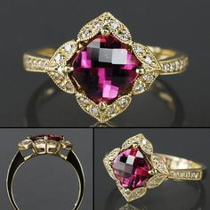 Flower of the East Pink Maine Tourmaline Ring