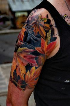 Fall leaf tattoo-gorgeous!