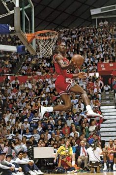 Jordan, Michael: NBA All-Star slam dunk contest in Seattle, 1987