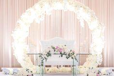 A Romantic backdrop with lush florals!  #romantic #backdrop #wedding