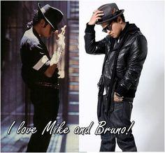 Michael jackson and Bruno Mars ....<3