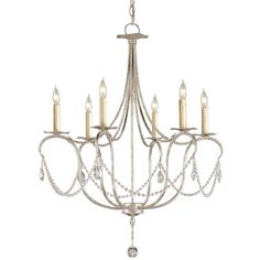 Buy the Currey and Company 9890 Silver Leaf Direct. Shop for the Currey and Company 9890 Silver Leaf 6 Light Wrought Iron Small Crystal Lights Chandelier with Customizable Shades and save. Chandelier Design, Crystal Lighting, Silver Chandelier, Ceiling Lights, Chandelier Lighting, Small Chandelier, Crystal Chandelier, Lights, Chandelier
