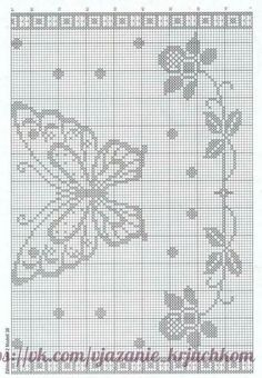 Filet Crochet, Thread Crochet, Crochet Motif, Crochet Doilies, Crochet Lace, Crochet Stitches, Crochet Curtains, Crochet Tablecloth, Tapestry Crochet
