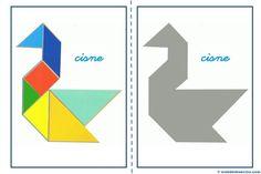Tangram, figuras para imprimir online pretendo facilitar información y aportar material educativo que he elaborado para descargar e imprimir. Maths Day, Flashcards For Kids, Maila, Learning Through Play, Busy Book, Shape Design, Pattern Blocks, Origami, Diagram